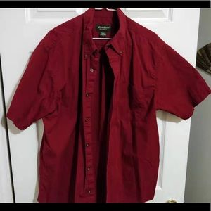 Eddie Bauer Relaxed Fit red button up